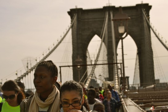 Across the Brooklyn Bridge. Photo by Bianca Clendenin.